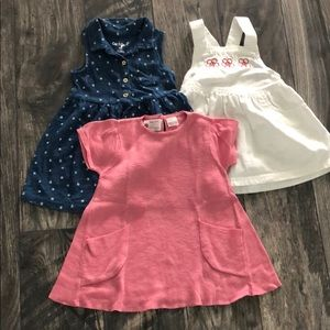 Lot of 3 Toddler Dresses 12-18 months